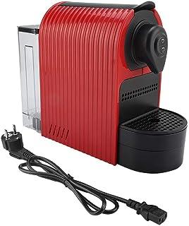 Máquina de café en cápsulas, Nespresso Máquina de café en cápsulas Máquina de café Espresso Máquina de café en cápsulas para Bebidas Calientes Espuma de Leche(Enchufe Rojo de la UE)