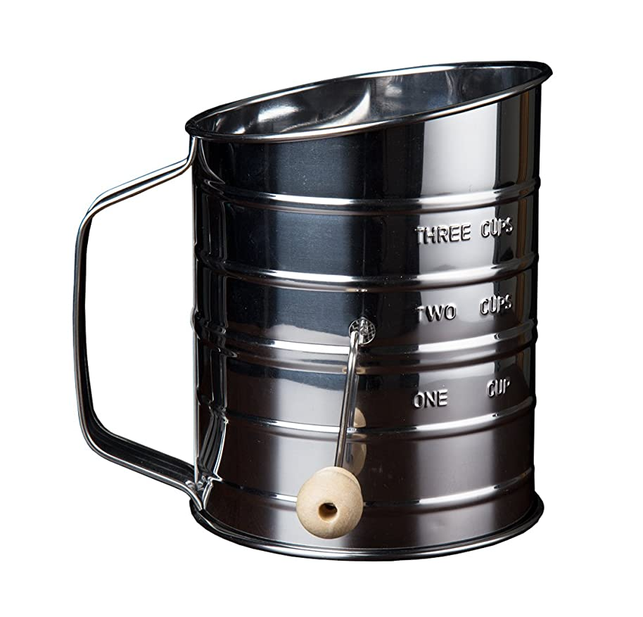 Kitchen Winners S0012 Stainless Steel Flour Sifter, 3 cups,
