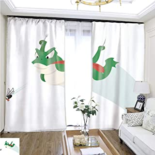 Tulle Curtain Frog and Fly The Chase W96 x L156 Wide Curtain for Insulation Highprecision Curtains for bedrooms Living Rooms Kitchens etc.