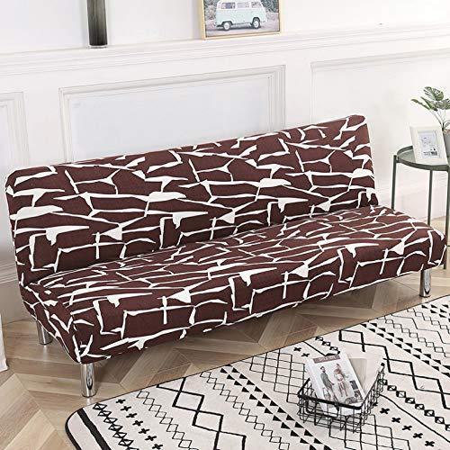 SSDLRSF Fundas sofá El sofá Cama de Estilo Moderno de impresión elástica de 185-215 cm Cubre el Asiento Plegable del sofá de la Oficina en casa