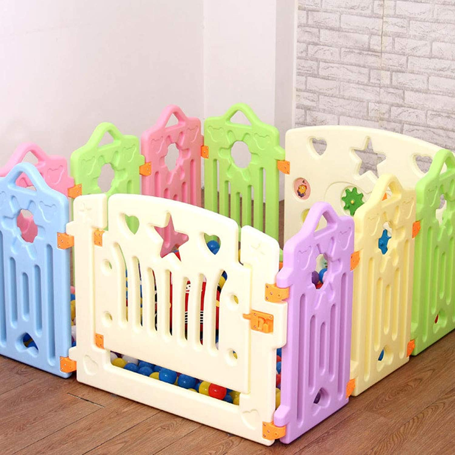 Fence Baby Crawling Baby Toddler Safety Fence Indoor Toy Door bar Uns (UnitCount   8 Pieces)