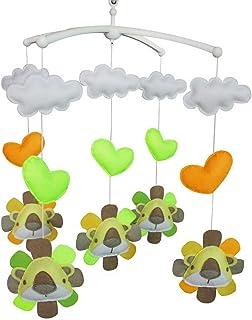 Jouet de décoration de lit bébé Mobile musical musical pour berceau fait main en tissu non tissé G04