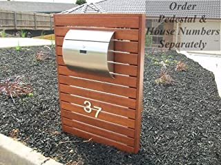 MPB1402 Semi Curve Lockable Mailboxes Stainless Steel Mail Boxes Modern Urban Style - Quality is TOP, Anti-Rust, Sturdy AS Reviews from Client