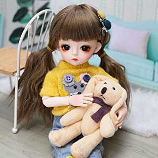 UCanaan BJD Doll, 1/6 SD Dolls 12 Inch 18 Ball Jointed Doll DIY Toys with Full Set Clothes Shoes Wig Makeup, Best Gift for Girls-Jia Jia
