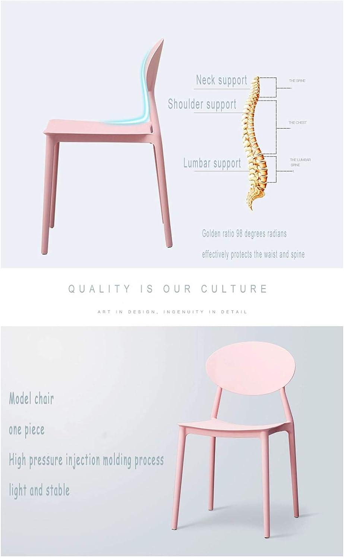 GW Chaises De Salle À Manger Chaise De Cuisine, Design Simple Moderne, Dossier Ergonomique Confortable, Cadre PP 81 * 44 * 43Cm,Rose Pink