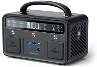 Anker PowerHouse II 400, 300W/388.8Wh Portable Power Station, 230V AC Outlet/60W USB-C Power Delivery Portable Generator f...