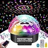ミラーボール MOSFiATA ディスコライト 9色 LED パーティーライト 舞台照明 ステージライト リモコン付き 直径18CM 高品質スピーカー USB Bluetooth機能 TFカード対応 自走機能 文化祭/KTV/カラオケ/クラブ/バー用 雰囲気を盛り上げる