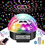 Disco Ball Party Lights Bluetooth Speaker, MOSFiATA 9 Colors Light Sound Activated LED
