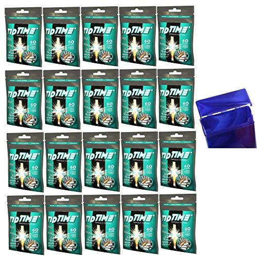 kogu Tip Time Menthol Kapselfilter Plus Mundstücken und Adapter inkl. Gratis Maxi Zigarettenbox (20x 60 Kapselfilter)