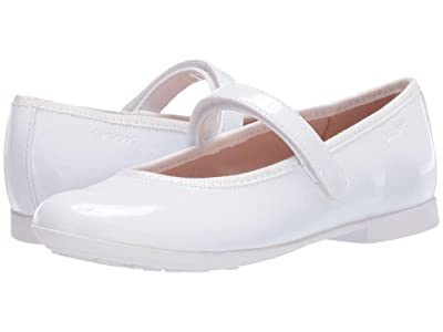 Geox Kids Plie 58 (Little Kid/Big Kid) (White) Girl