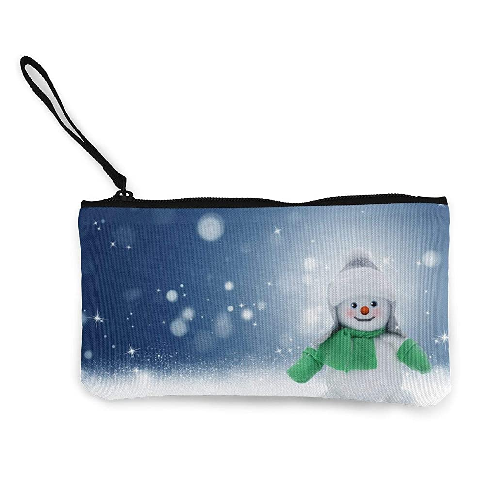 望む項目マティスErmiCo レディース 小銭入れ キャンバス財布 雪だるま 小遣い財布 財布 鍵 小物 充電器 収納 長財布 ファスナー付き 22×12cm