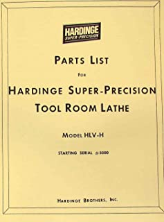 Hardinge HLV-H Metal Lathe Parts Manual