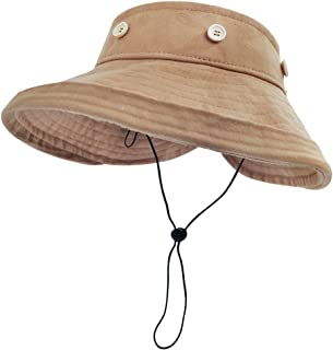 LETHMIK Removable Top Sun Visor Hat,Womens UV Protection Wide Brim Cap Beach Hat