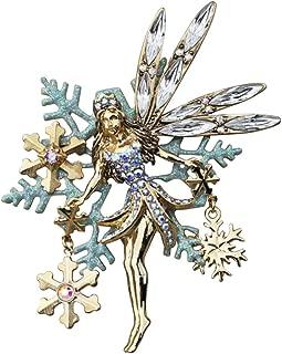 Kirks Folly Delphine Snow Fairy PIN Goldtone