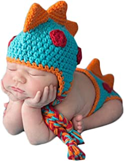 Baby Baby Crochet Knitted Photo Photography Props Handmade Baby Hat Diaper Outfit.