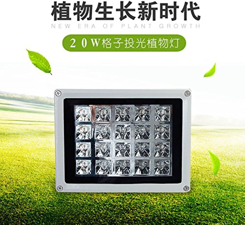 20 W Raster Licht pflanze Lampe hochwertiges Aluminiumgehuse Pflanze Licht