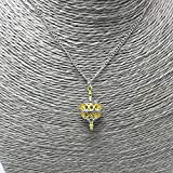 Davitu Unique Pendant Necklace Gold Color Hollow Ball Charm Two Tone Liahona Necklaces with Steel Chain for Baptism Festival Gift