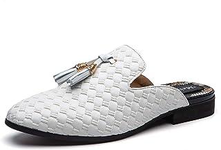 Sponsored Ad - Meijiana Men's Slippers Slip-On Loafers Leather Formal Wear Casual Open Back Sandals