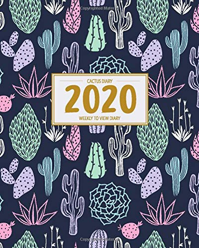 Cactus Diary 2020 Week to View Diary: UK Holidays   Planner & Organiser with Monthly & Weekly Views (Rocket Studio UK Cactus Planners)