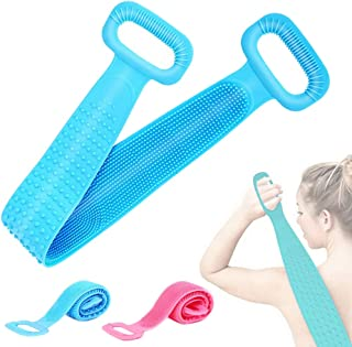 Oxmidud Exfoliating Back Scrubber, Silicone Bath Shower Scrubber Belt Double Side for Women and Men, Deep C...