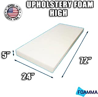 FOAMMA High Density Upholstery Foam Cushion (Seat Replacement , Upholstery Sheet , Foam Padding) Fast! Made in USA!! (5