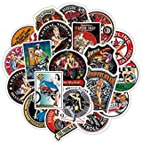 100Pcs Retro Motorcycle Hot Rod Sexy Girl Beauty Stickers for Adults Waterproof Vinyl Classical Vintage Car Phone Laptop Luggage Bicycle Motorcycle Theme Scrapbook Stickers Decal