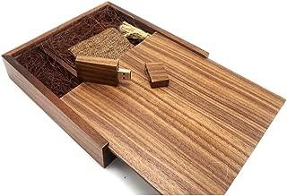 Lonmax 32GB Walnut Wooden USB Flash Drive USB 2.0 Flash Disk Pen Drive Wedding Birthday Gifts Walnut Box (17017035mm) (32GB, Walnut +Walnut Box)