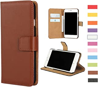 Jaorty Samsung Galaxy Note 4 Case, Genuine Leather Folio Flip Wallet Case Cover Book Design with Kickstand Feature & Magnetic Closure & Card Slots/Cash Compartment-Brown