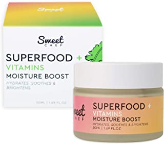 Sweet Chef Superfood + Vitamins Moisture Boost - Moisturizing Whipped Facial Cream with Hyaluronic Acid, Ginger + Antioxid...