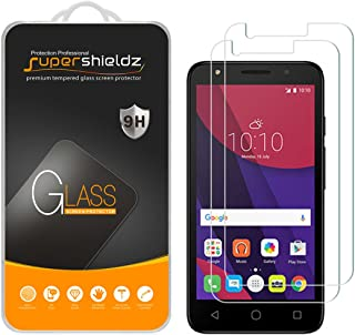 Supershieldz (2 Pack) for Alcatel Pixi 4 (4.5 inch) Tempered Glass Screen Protector, Anti Scratch, Bubble Free