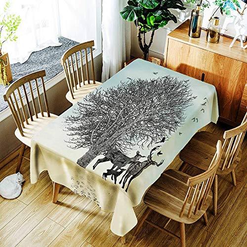 XXDD Mantel de Plumas de Colores Creativo pájaro Flor Retro patrón cómodo Impermeable Cubierta de Tela para el hogar A3 150x210cm