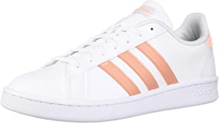 adidas Women's Grand Court, dust Pink/White, 8 M US