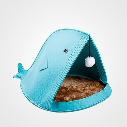 calidad de primera clase GXFDP Cat Nest Pet Beds Pet Cave Cave Cave Pet Cálido Saco de Dormir Nest Puppy Bed Lavable Four Seasons Universal (Color   azul)  alta calidad