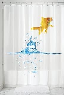 mDesign Goldfish 5G PEVA Shower Curtain, Mold and Mildew Resistant - 72