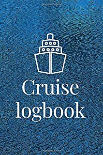 Cruise logbook: boaters journal, trip log for your ship with detailed interior (port information, weather conditions, sea ...