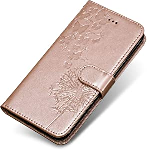 Xiaomi Redmi Note Case  The Grafu  Wallet Case Soft Silicone Inner Shell Leather Embossed Magnetic Cover with Stand Function for Xiaomi Redmi Note 5A  Rose Gold