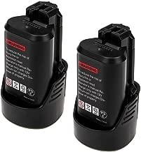 2 Packs 2500mAh BAT411 Replace for Bosch 12V/10.8V Battery Lithium BAT420 BAT411A BAT412