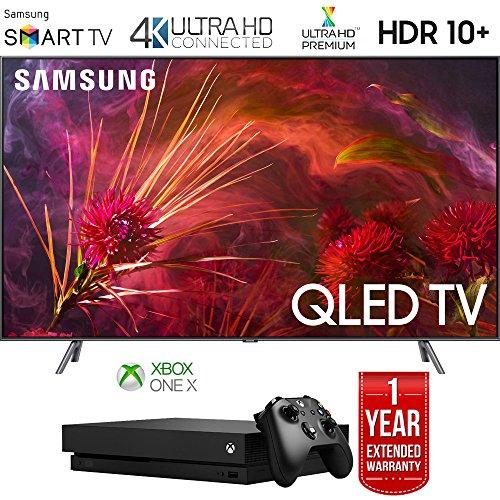 Samsung QN75Q8FNB 75' Q8FN QLED Smart 4K UHD TV (2018 Model) with Microsoft Xbox One X 1TB Console Bundle