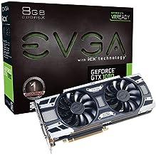 EVGA NVIDIA GeForce GTX 1080 Gaming 8GB GDDR5X DVI/HDMI/3DisplayPort PCI-Express Video Card w/ iCX - 9 Thermal Sensors & L...