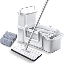 JSZMD Hand-Free Washing Mop Flat Household Wooden Floor Wet and Dry One Mop