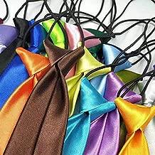 Escuela Niños Niños Niños Bebé Boda Color sólido Corbata elástica Corbata Niño Corbata Bebé Boda Corbata Cuello corbata Mancha - Rosa