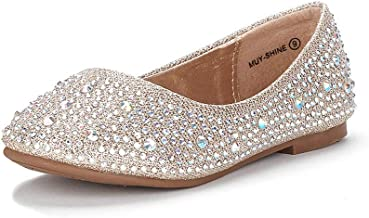 DREAM PAIRS کفش های دخترانه Muy روی کفش Ballerina (کودک نو پا / بچه کوچک / بچه بزرگ)