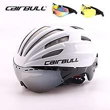 whhuwai 3 Lens Cycling Helmet Goggles Integrally-Molded Bicycle Helmet 28 Vents Racing Road Bike Helmet 55-61CM