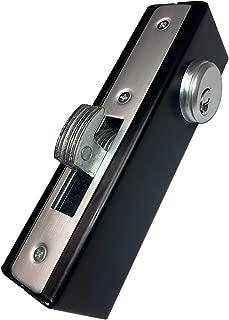 KIASET Hook Bolt Mortise Lock, Weldable Steel Hook Lock for Sliding Gate, Double Cylinder, 1-1/8