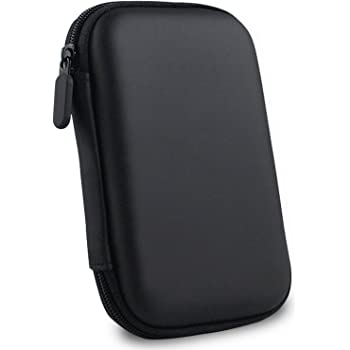 "GIZGA Hard Disk Drive Pouch case for 2.5"" HDD Cover WD Seagate Slim Sony Dell Toshiba (Black)"