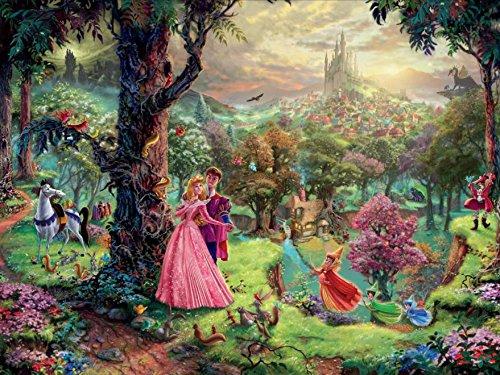 Ceaco Thomas Kinkade The Disney Collection Sleeping Beauty Jigsaw Puzzle, 750 Pieces