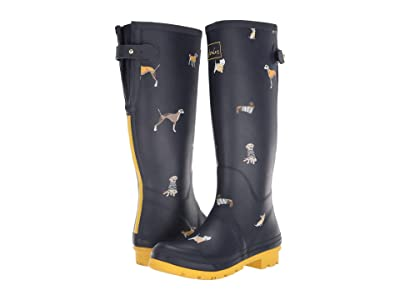 Joules Welly Print (Navy Harbour Dogs) Women