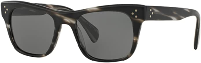 Oliver Peoples - JACK HUSTON OV5302SU - 1496/K8 SEMI-MATTE EBONYWOOD/GRAPHITE VFX+ POLARIZED Sunglasses, 52mm