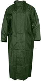 Devil Women's Nylon Hooded Waterproof Long Lightweight Waterproof Raincoat|Overcoat Full Length (Green)