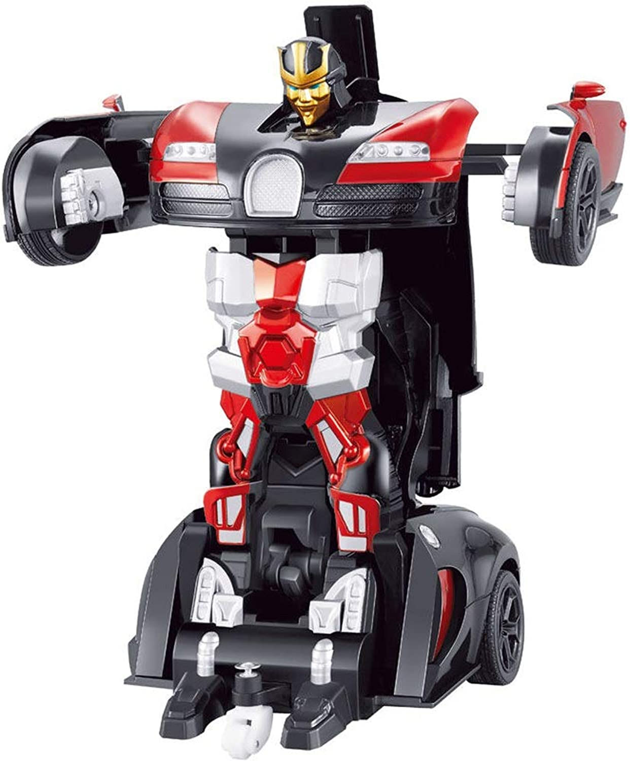 PETRLOY Gesture Transformation Autobots Car Toy for Kids 1 18 Model RC Car Boys Girls Light Up Mini RC Car Rechargeable 700mAh Music and Lighting Features One Button Remote Action Figure